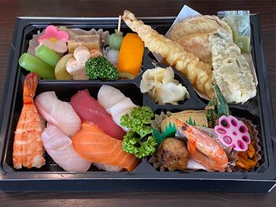 握り寿司天ぷら弁当